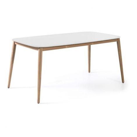 Table de jardin Helsinki 213x100 - blanc