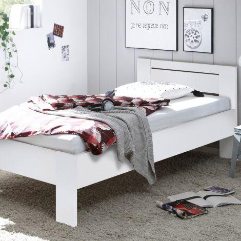 Lit simple Sartre 90x200 - blanc