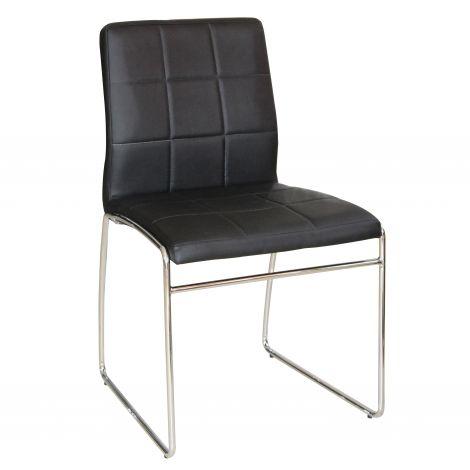 Lot de 2 chaises Tine - noir