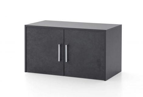 Surmeuble/meuble suspendu Maxi-office 2 portes - graphite