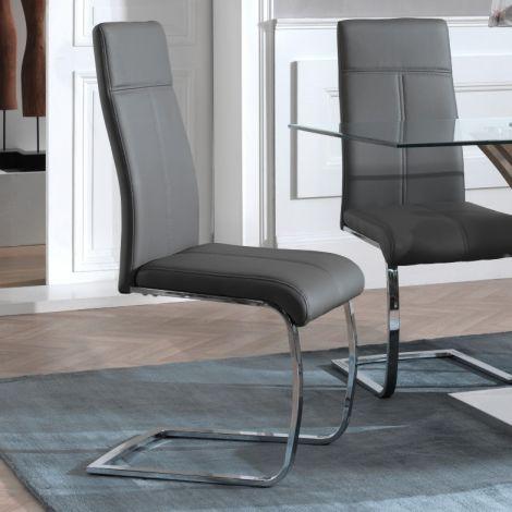 Lot de 2 chaises cantilever Elio - gris