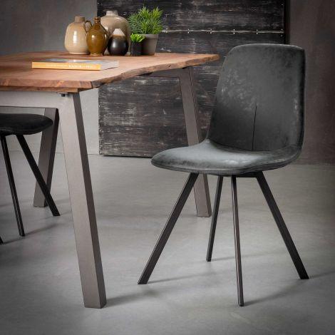 Lot de 4 chaises Valentina - noir