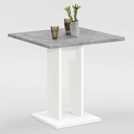 Table à manger Brandon 70x70 - blanc/béton