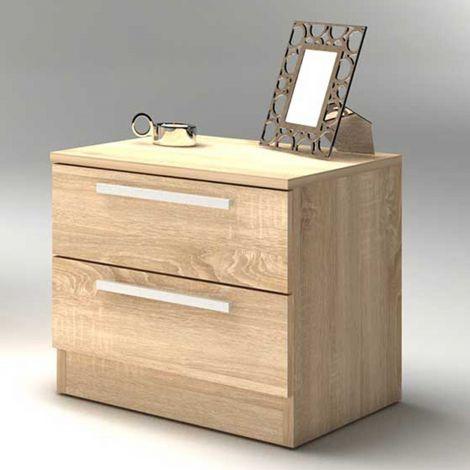 Table de chevet Ramos 2 tiroirs - chêne