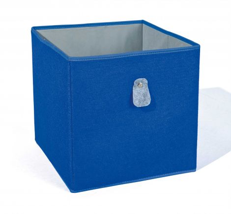 Boîte de rangement Widdy - bleu/gris