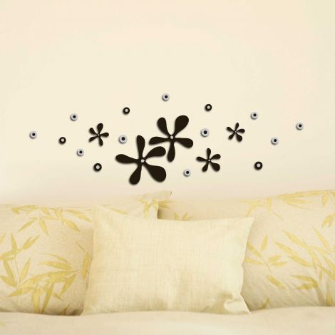 Stickers muraux 3D Squeeze Flowers - mousse