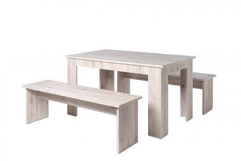 Table et bancs Munich 140cm - chêne sorrento
