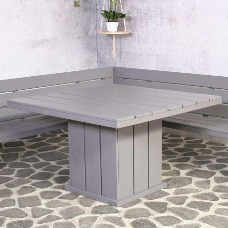 Table de jardin Brest 118x118 - gris