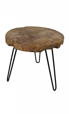 Table d'appoint Racine - naturel - teck racine bois
