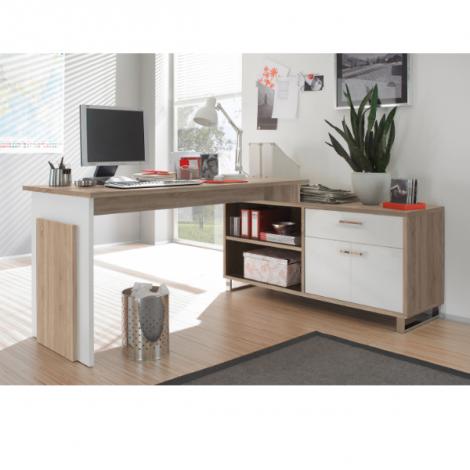 Bureau Klopp - chêne/blanc