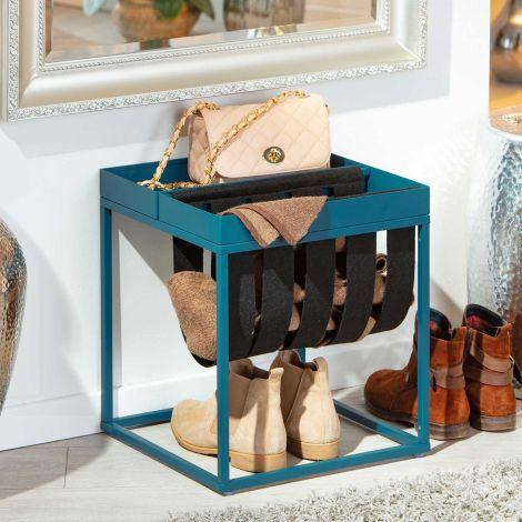 Table d'appoint Nubis 35x35 - bleu/noir