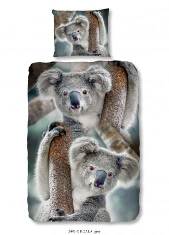 Housse de couette Koala 140x220 - gris