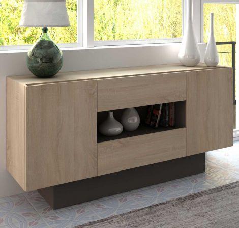 Bahut / Meuble tv Ivo 160cm - brun