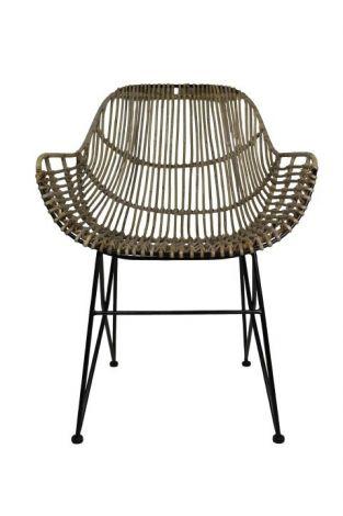 Chaise de salle à manger - rotin - naturel
