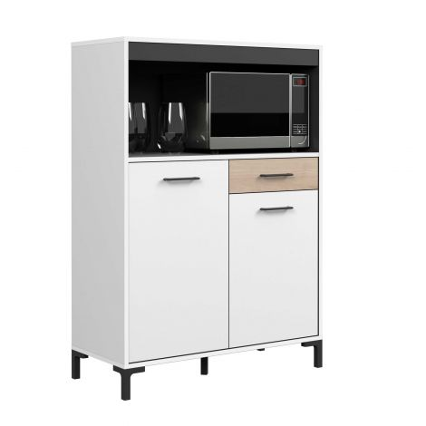 Armoire de cuisine Aristide 90cm avec 2 portes & 1 tiroir - blanc