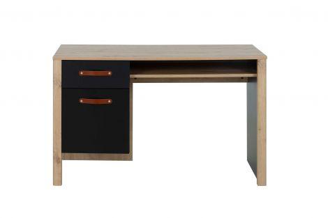 Bureau Liam 122cm avec 1 tiroir & 1 porte - chêne artisan