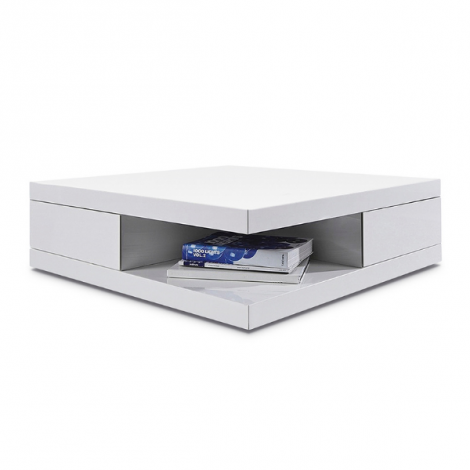 Table basse Dundee 80x80 - blanc