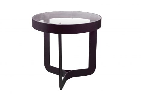 Table d'appoint Douglas ø46x50cm - noir/chêne