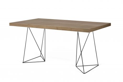Table Multis - noyer/pieds noirs