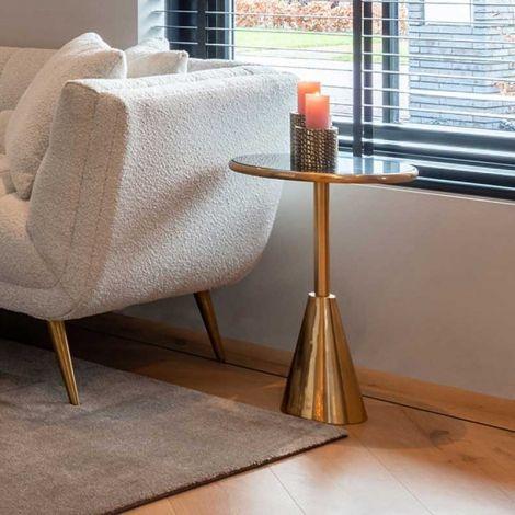 Table d'appoint Clas ø39cm - noir/or