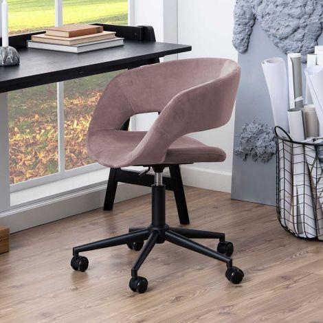 Chaise de bureau Dusty - vieux rose