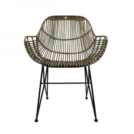 Lot de 2 chaises de salle à manger Bacca - rotin/nature