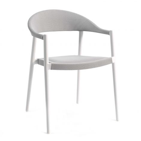 Chaise de jardin Mati - blanc/gris clair