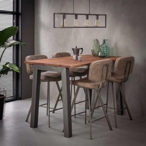 Table de bar 147 edge 25mm - Massif acacia naturel