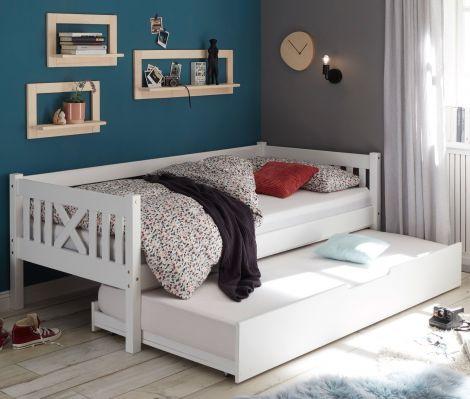 Tiroir de lit Trever/Leona 90x190 - blanc