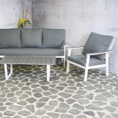 Salon de jardin Durkin - blanc