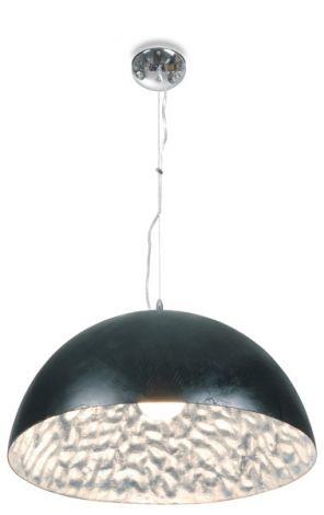 Suspension Moonface Ø38cm - noir / argent - 60w E27