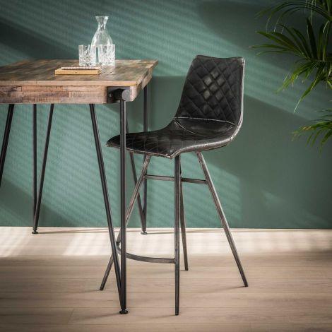Chaise de bar Jolene - anthracite