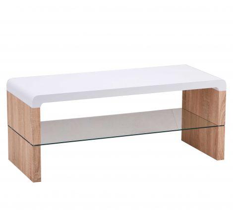 Meuble TV Faro 100cm - blanc/chêne