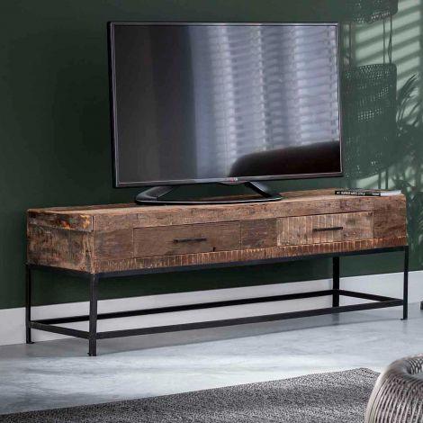 Meuble TV Lodge 135cm bois recyclé