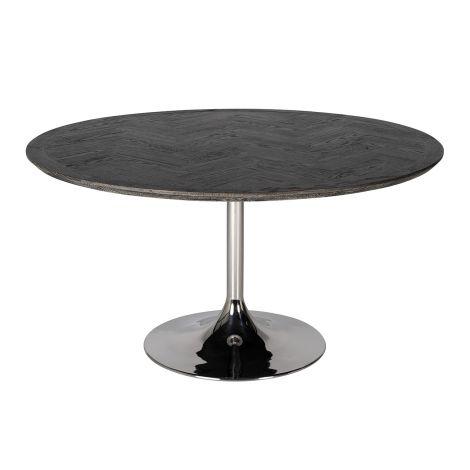 Table à manger Bony Ø140cm - noir/argent