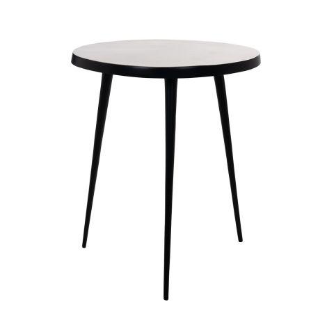 Table d'appoint Lork ø49cm - noir/or