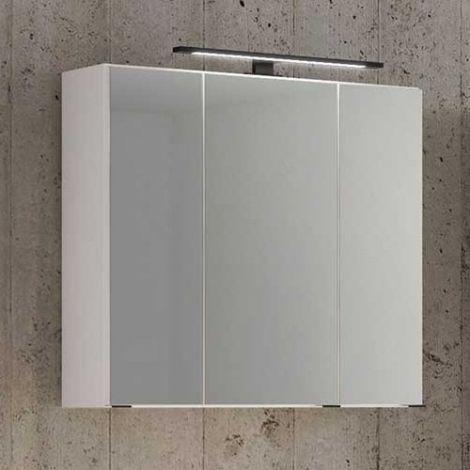 Armoire de toilette Dusan 80cm à 3 portes - blanc