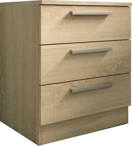 Table de chevet Ramos 3 tiroirs - chêne