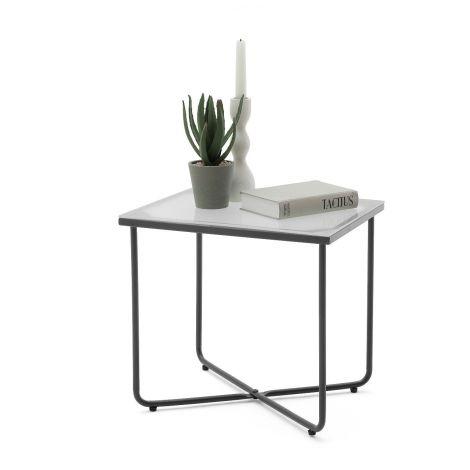 Table de nuit Bosko - gris graphite/verre