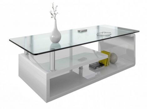 Table basse Hilda - blanc brillant