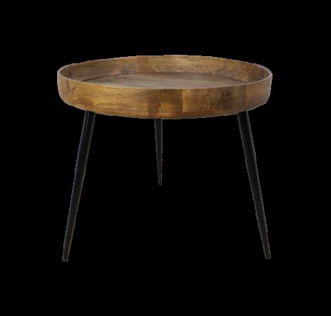 Table d'appoint Ventura ø60cm bois de manguier/fer - naturel