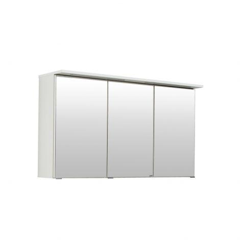 Armoire de toilette Bobbi 120cm modèle 1 3 portes & eclairage LED - blanc