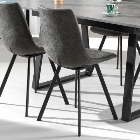 Lot de 2 chaises Norway - gris