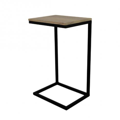 Table d'appoint Read 65cm - bois de manguier/fer noir