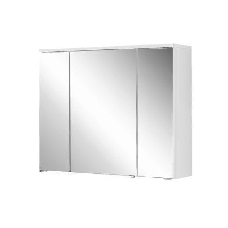Armoire de toilette Pollet 80cm 3 portes - blanc