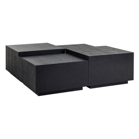 Table basse Tetrad 130x130 - noir