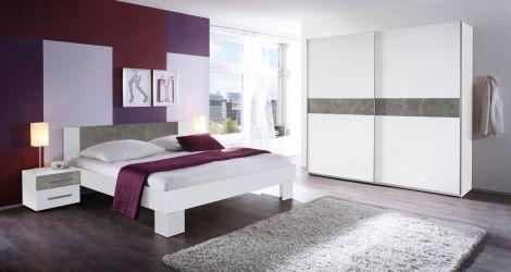Set de chambre Mavic 160x200 - blanc/béton