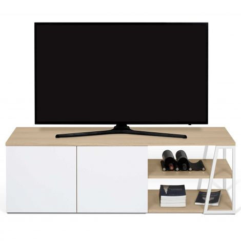 Meuble tv Albi - chêne/blanc