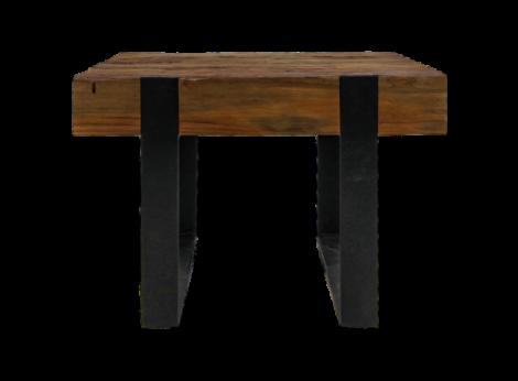 Table basse Norton 50x50 cm - teck/fer recyclé