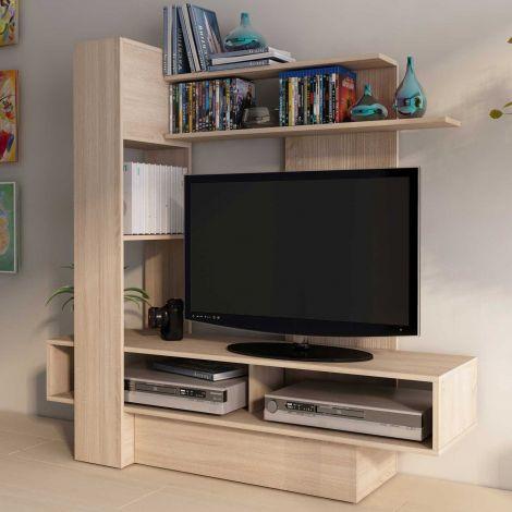 Meuble tv Skill 140cm - brun